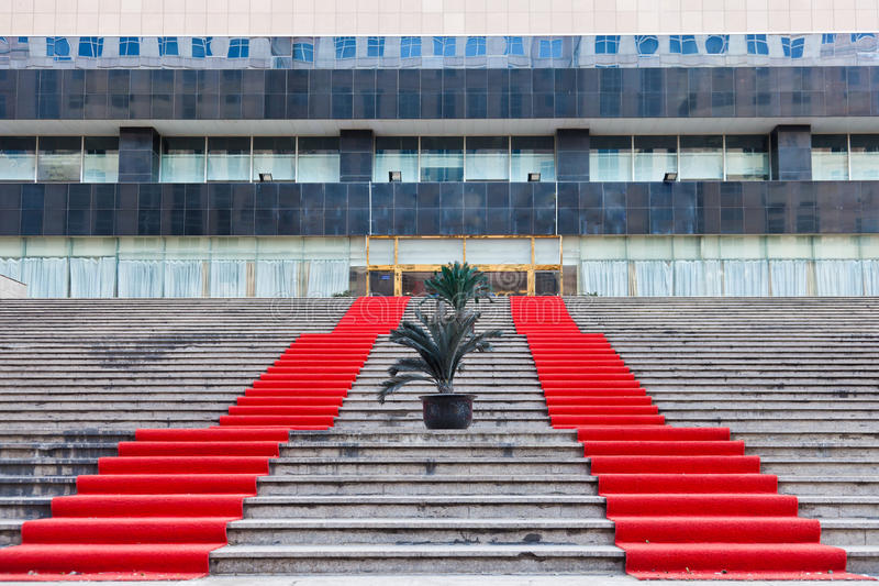Download Red Carpet Covered The Steps Stock Photo - Image: 23146194