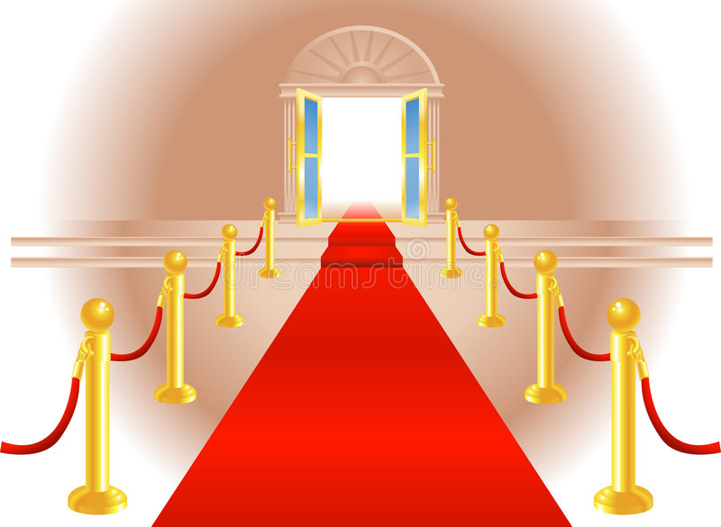 Red Carpet Entrance Royalty Free Stock Images