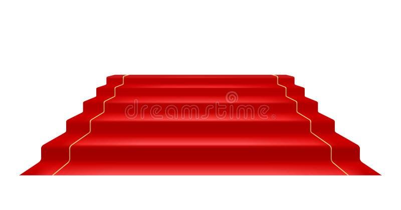 Red carpet and Golden barrier with rope for Vip presentation. Vector illustration. Red carpet and Golden barrier with rope for Vip presentation. Defence stock illustration