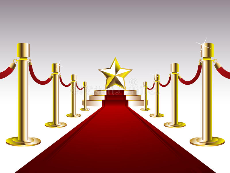 Download Red Carpet With Golden Star Stock Vector - Image: 16924977