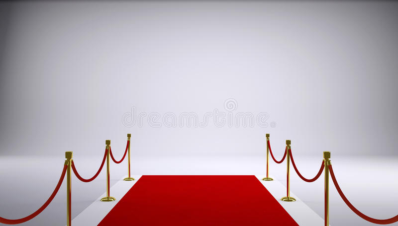 The red carpet. Gray background stock photos