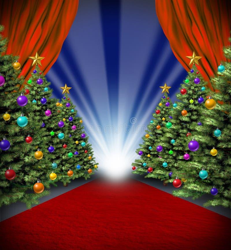 Download Red Carpet Holidays stock illustration. Image of pine - 27539749