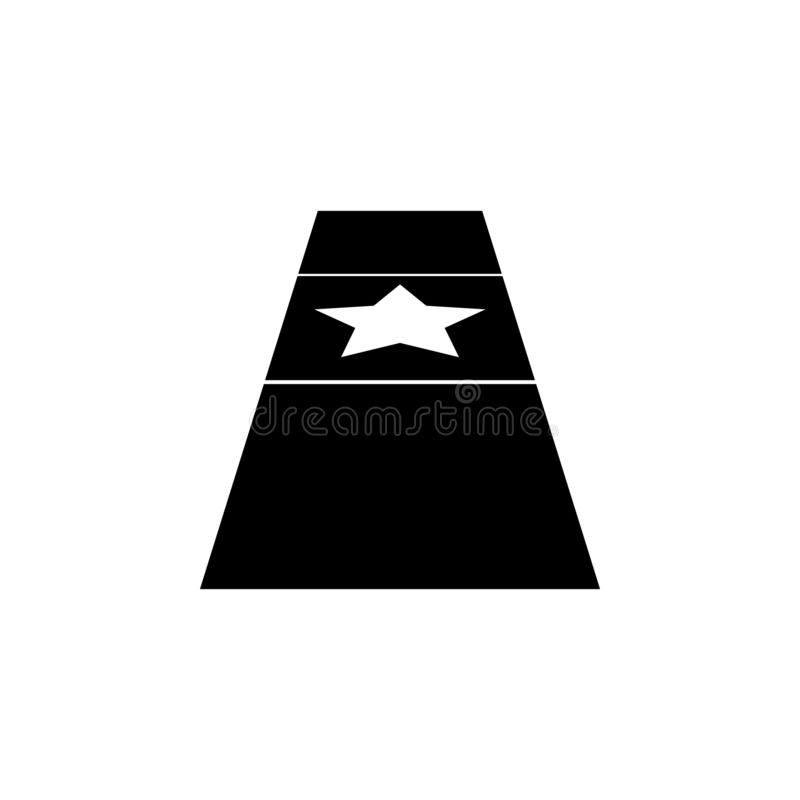Red carpet icon. Simple glyph vector of cinema for UI and UX, website or mobile application. On white background vector illustration