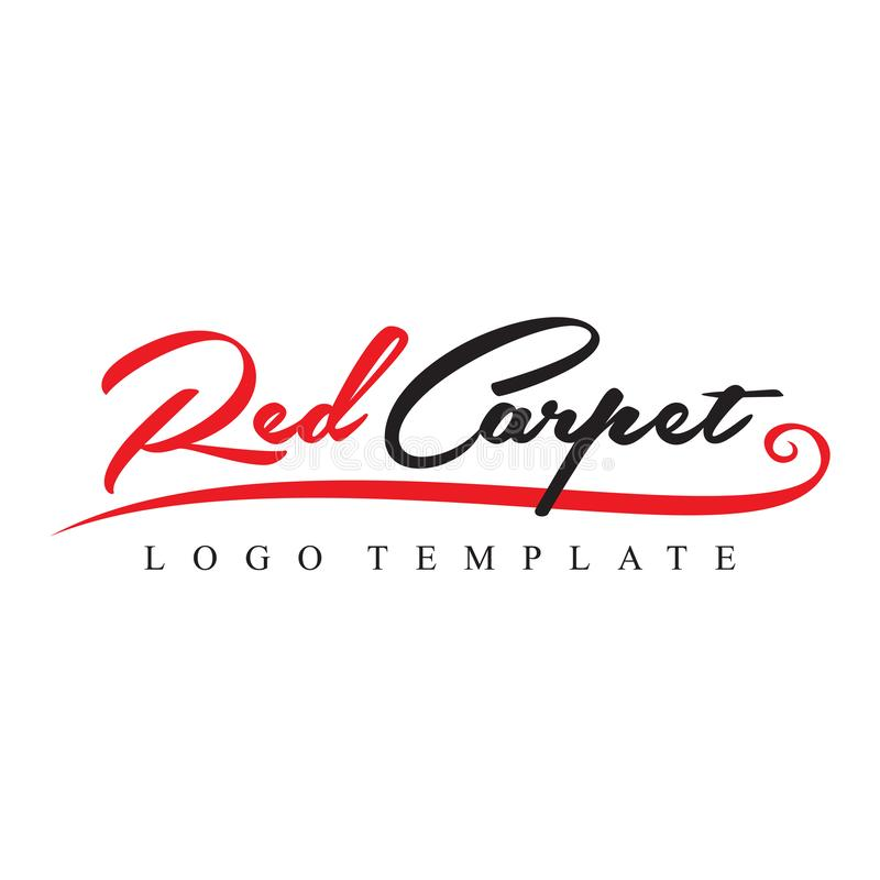 Red Carpet Logo Template Vector. Red Carpet Black and Red Event Organizer Business Logo Template Vector royalty free illustration