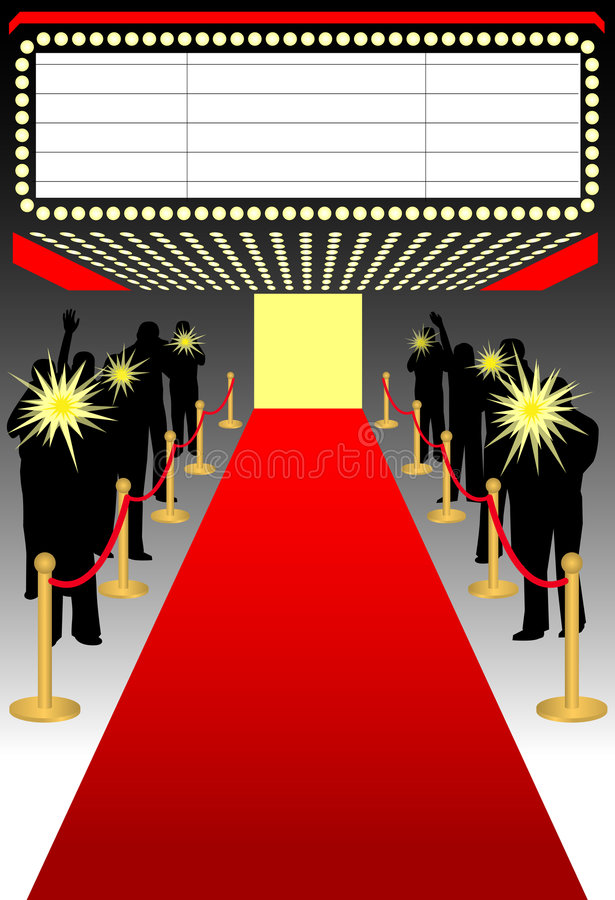 Red carpet premier/ai. Illustration of a red carpet premier event complete with paparazzi...ai file available