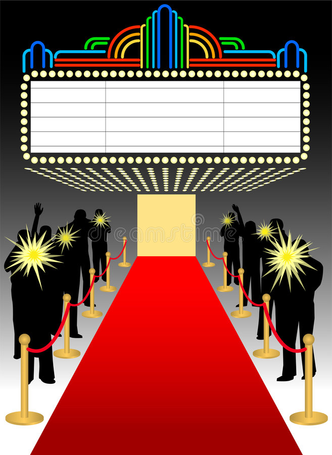 Red Carpet Premier Marquee/eps vector illustration