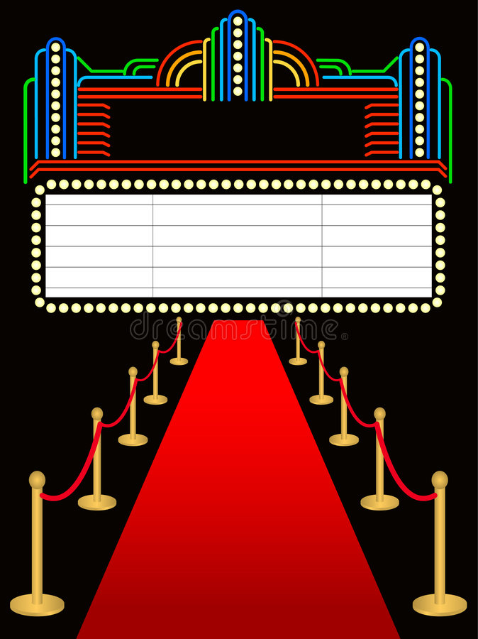 Free Red Carpet Premier Marquee/eps Stock Photo - 5459770