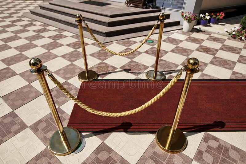 Red carpet. royalty free stock images