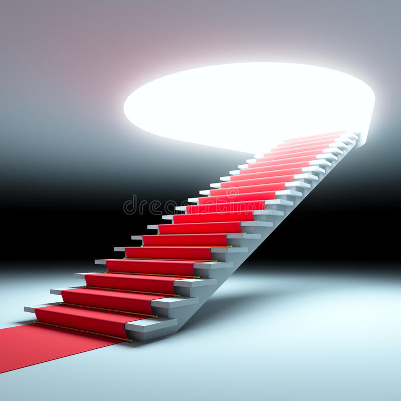Download Red Carpet To The Future. Royalty Free Stock Photos - Image: 23067418