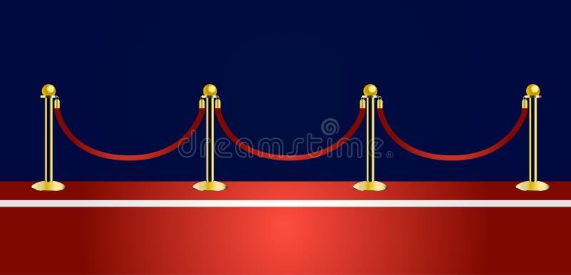Red carpet vector. Celebration scene stock illustration