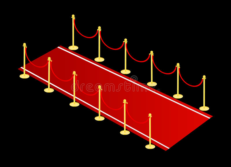 Red carpet vector royalty free illustration