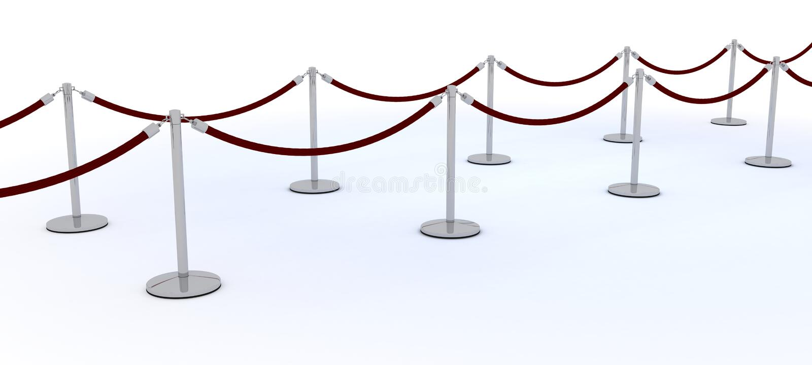 Download Red carpet and velvet rope stock illustration. Image of render - 25896087
