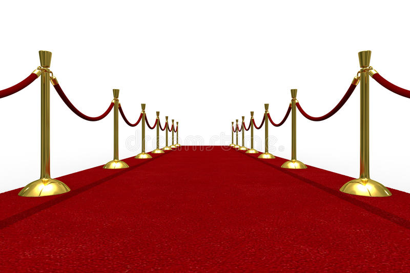 Download Red Carpet On White Background Stock Illustration - Image: 13936076