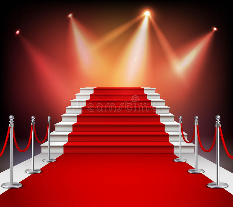 Free Red Carpet With Stairs Royalty Free Stock Photography - 74922397