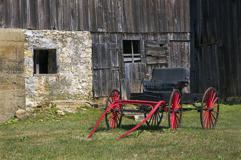 Red Carriage and Barn