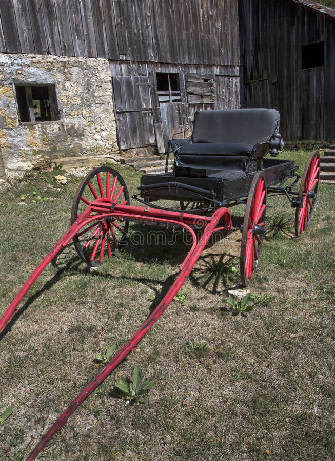 Download Red Carriage and Barn stock photo. Image of barn, wooden - 33732458