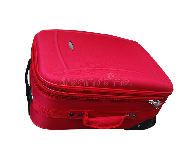 Download Red Carry-on Luggage stock photo. Image of white, briefcase - 5568498