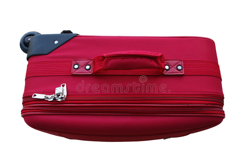 Download Red Carry-on Luggage stock image. Image of space, isolated - 5568565
