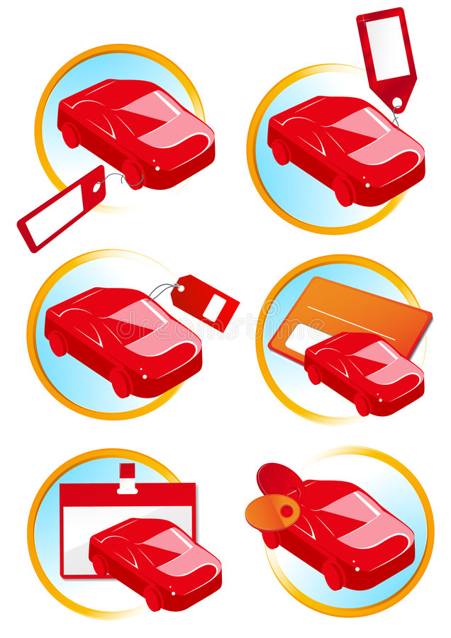 Download Red cars for sale stock vector. Illustration of buying - 9107043