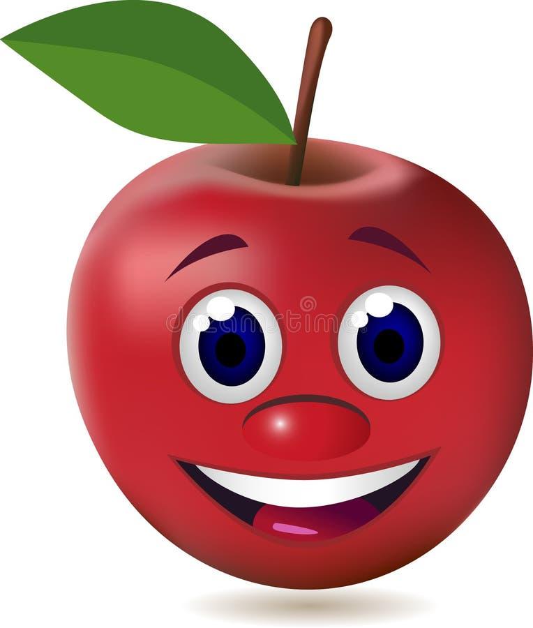 Download Red cartoon apple stock vector. Image of cheer, body - 16826720