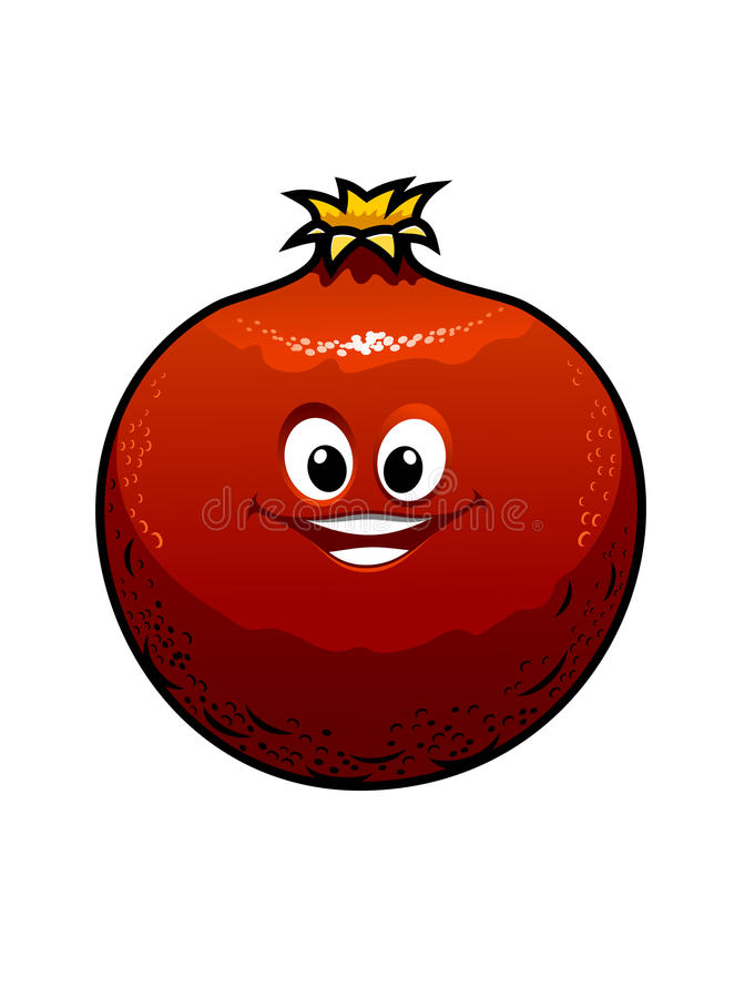 Red cartoon pomegranate