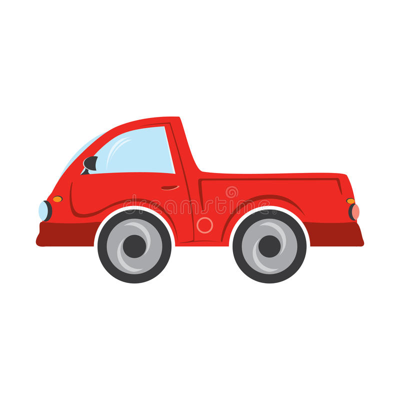 Red truck isolated on a white background royalty free stock photos