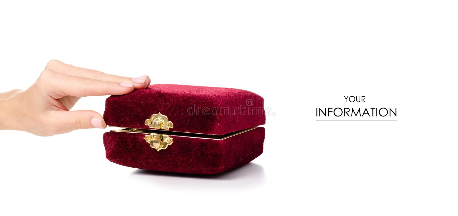 Red casket in hand pattern royalty free stock images