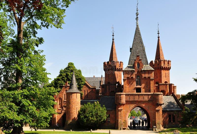 Red castle Hradec nad Moravici. Beautiful czech castle ,,Red castle,, in Hradec nad Moravici near Opava stock photo