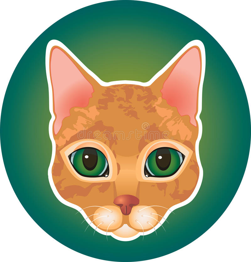 Free Red Cat Icon Royalty Free Stock Image - 57190336