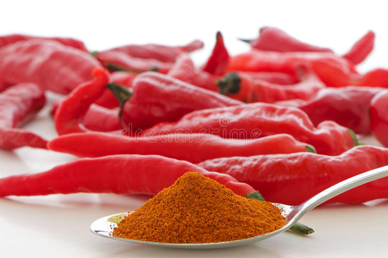 Red Cayenne Pepper stock photography
