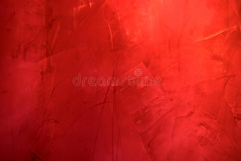 Red cement wall texture , red abstract background. royalty free stock photo
