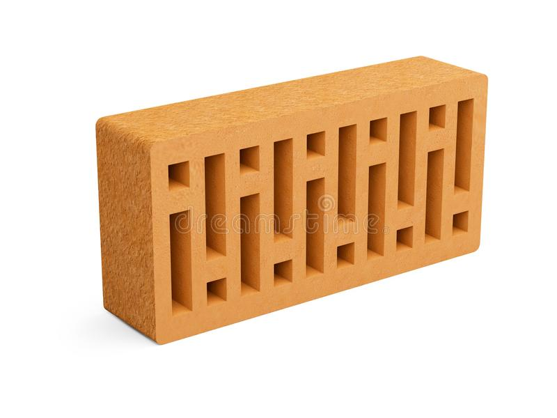 Download Red Ceramic Brick With A Square Holes Stock Illustration