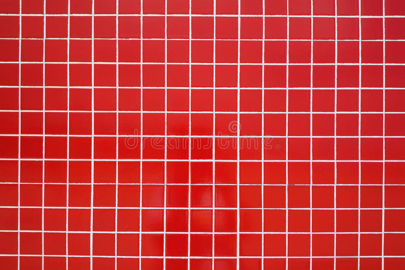 Red ceramic tile stock photo