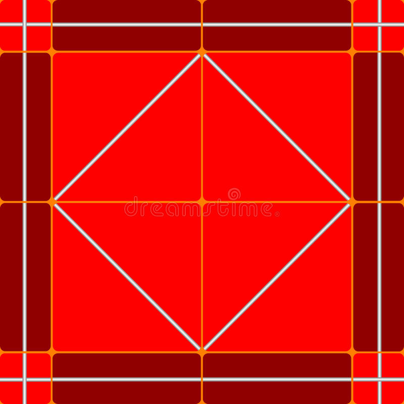 Red ceramic tiles stock illustration