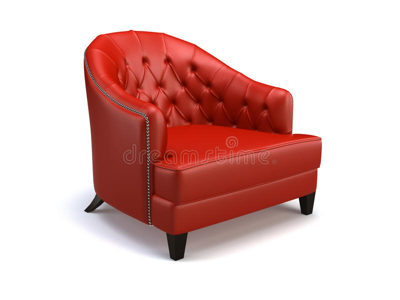 Download Red chair stock illustration. Image of relax, modern - 16480700