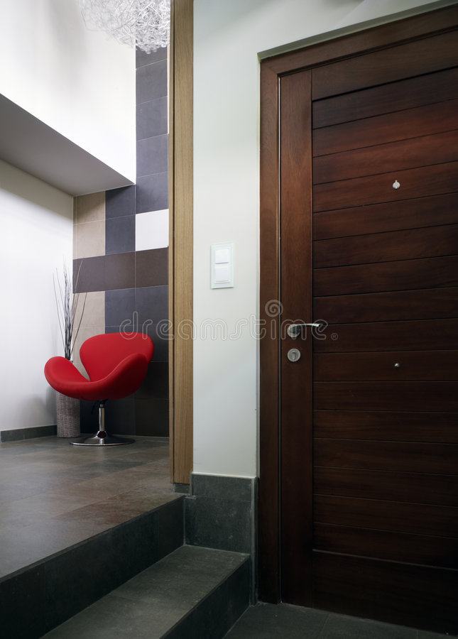 Download Red chair stock image. Image of decoration, architecture - 7618389