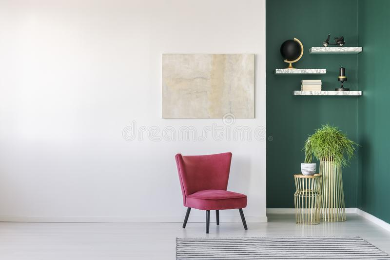 Modern living room interior stock images