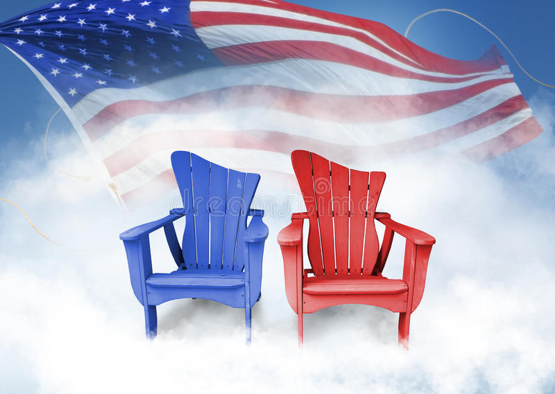 Chairs with flag