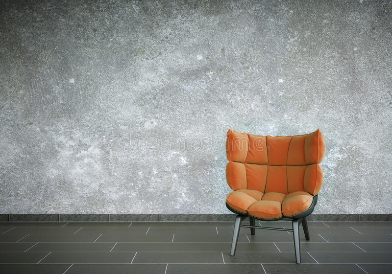 Download Red Chair stock illustration. Image of wall, render, living - 36981208
