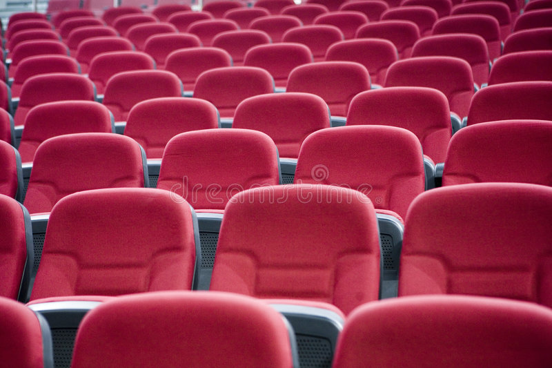 Red chairs 1. Red Chairs in a gymnasium royalty free stock photos