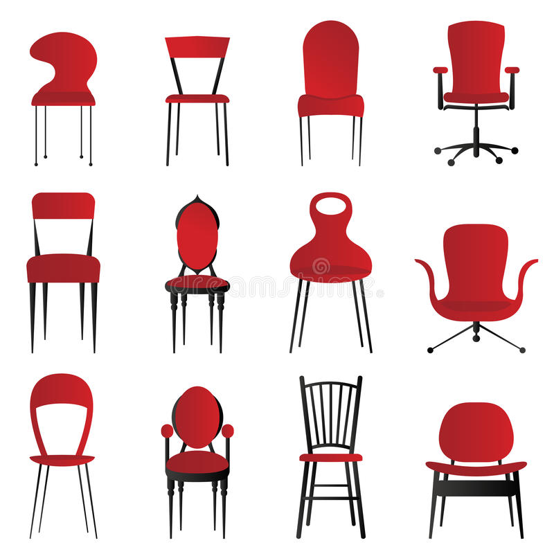 Red chairs vector illustration