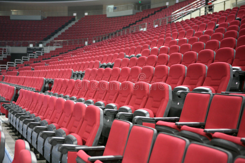 Red chairs 2. Red Chairs in a gymnasium royalty free stock image