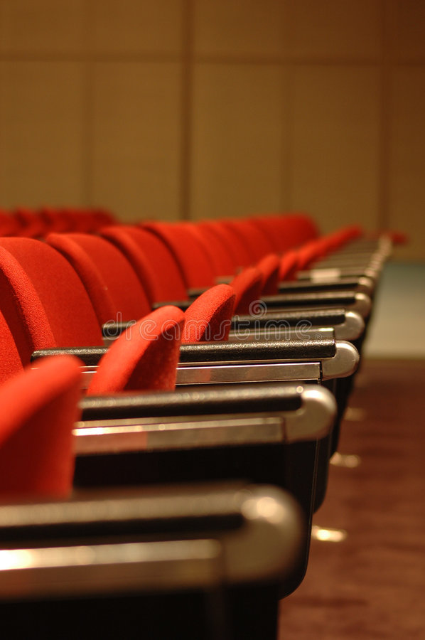 Download Red Chairs stock image. Image of lines, lined, concert - 483249