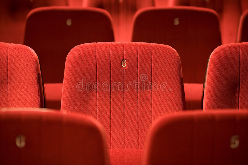 Download Red Chairs On The Empty Cinema Stock Photo - Image: 7754724