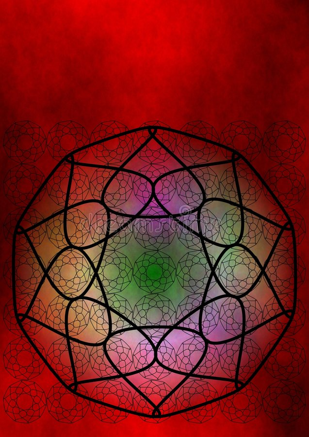 Red chakra lotus stock illustration