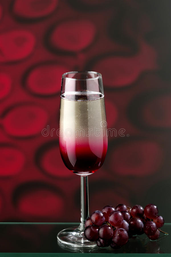 Red champagne stock images
