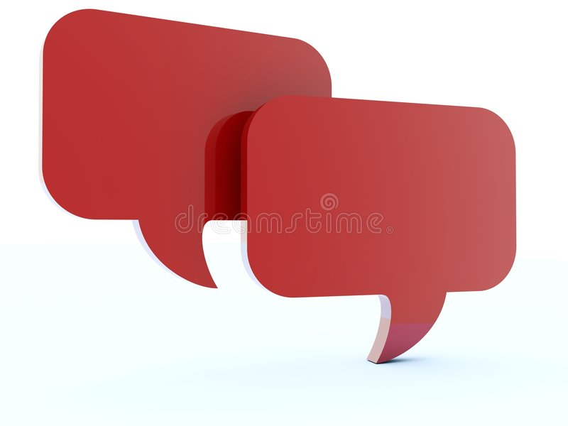 Red Chat Boxes Royalty Free Stock Images