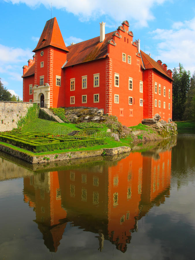 The Red Chateau Cervena Lhota in southern Bohemia. royalty free stock photography