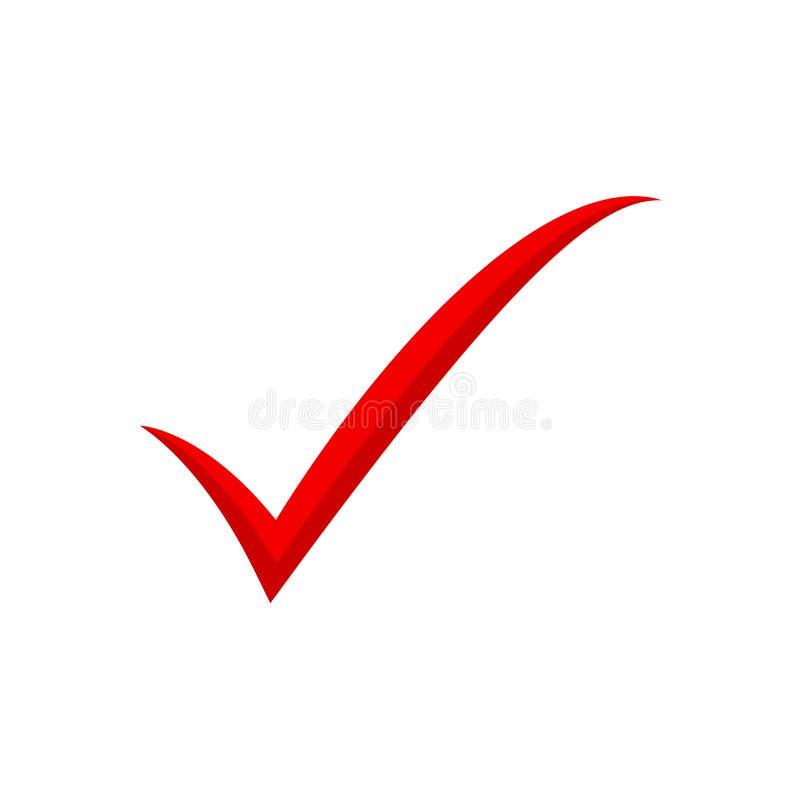 Red check mark icon. Tick symbol, tick icon vector illustration. Eps10 vector illustration