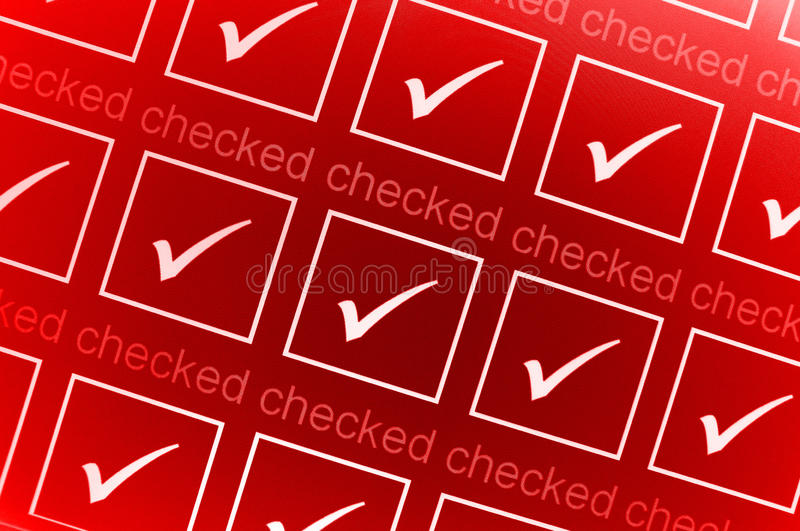 Download Red checked boxes stock illustration. Illustration of vivid - 15459450